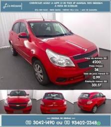 Vermelho Chevrolet agile 1.4 mpfi lt 8v flex 4p manual 2012 R$ 14.234 56000km - 2012
