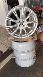 Rodas aro 20 novas com pneus novos