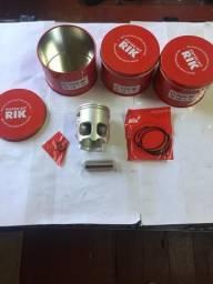 Kit Pistão C/Anéis RD135 Rik Novo