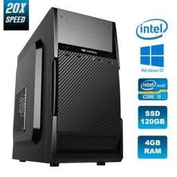 PC Novo: 4GB Ram, SSD120GB, Intel Core i3 *Pronto para o uso (Super rápida) Confira <-