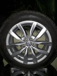 Jogo de Roda Fox 195 55 15 p7 Pirelli Magnesio