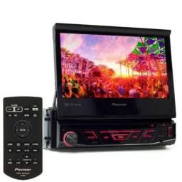 Dvd Player Pioneer Retrátil C/ Bluetooth Avh-4880bt + Câmera