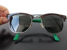 c26b4561b7956 Óculos de sol original Ray Ban Clubmaster armação marrom e verde com lente  preta