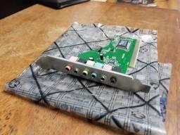 Placa de som PCI para PC
