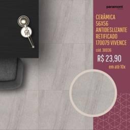 Cerâmica 56x56 antideslizante retificado 170079 Vivence por apenas R$ 23,90 m²
