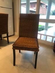 Cadeiras jantar Rattan
