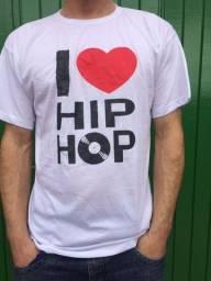 Camiseta I Love Hip Hop Vinil