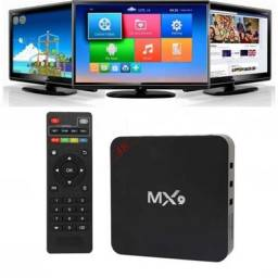 Tv Box Android Smart Tv 4k Filmes Conversor Hdmi Original