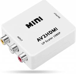 Conversor Áudio E Vídeo Rca Para Hdmi Av2hdmi Completo