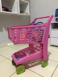 Carrinho de brinquedo de supermercado