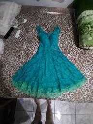 Vestido maravilhoso verde tamanho m