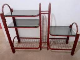 Rack tubular (vidro e ferro)