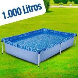 R$249,90 - Piscina 1000 litros azul