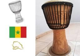 Djembê Senegalês esculpido a mão