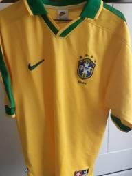 Camisa Brasil 1997 - Nike - Tamanho M
