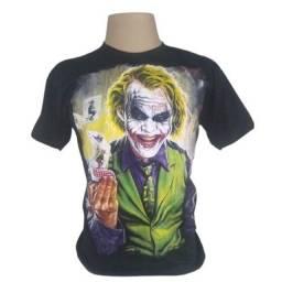 Camisetas camisa filme máscara frente verso lançamento de 59,90 por 39,90