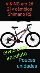 Bike 26 Vikingx MTB 21v Machas freio Disco
