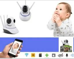 Baba Eletrônica Camera Ultra Hd Bebe Criança Idoso Monitoramento 24h Visão Noturna