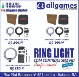 Ring Light com Controle sem fio é na Allgames