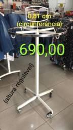 Arara Redonda para loja de roupa