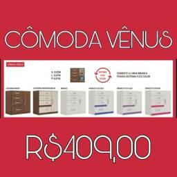 PROMOÇÃO Cômoda c/4 gavetas Venus