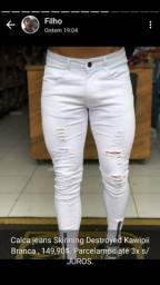 Calças jeans Skinnig Destroyed Kawipii