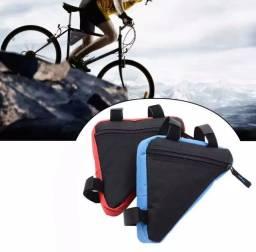 Bolsa de bicicleta quadro triângulo à prova água.