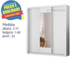 ** Catálogo completo via whats -Promoção Guarda Roupa Vero 3P Correr Espelho Central