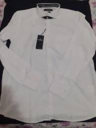 Camisa social colombo  branca tamanho 3