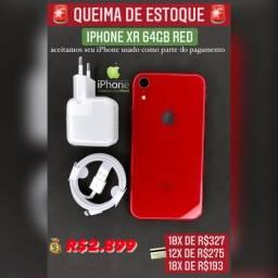 iPhone XR 64gb vermelho super oferta
