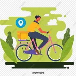 Faço entregas de bike