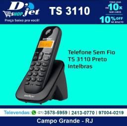 Telefone Sem Fio TS 3110 Preto - Intelbras - 205926