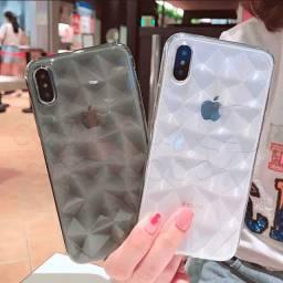Capinha de Silicone Diamond para Iphone - Motorola - Samsung - LG - Xiaomi