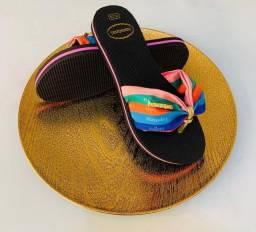 Kit chinelos havaianas laço 12 pares