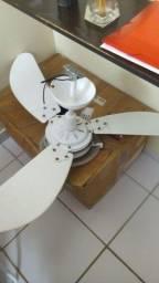 Vendo ventilador de teto 3 funções luminária, compressor e ventilador