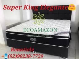 Cama SUPER king ELEGANTE ** Cama ORTOBOM