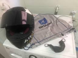 Capacete Shark R-race Pro Carbon Usado - Viseira Extra + Ace
