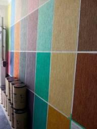 Aplicaçao de Grafiato  e Textura rolada Apatir 10 Metro