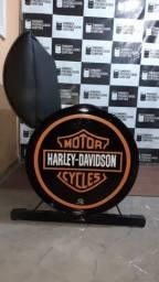 Sofá Tambor Personalizado com encosto Harley Davison