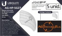 5 X Ubiquiti Grade Antena Airgrid M5 - 27dbi - Ag-hp-5g27