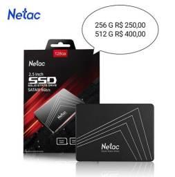 NETAC SSD 256 e 512 G SATA3 Memoria Para Notebook, PC e Consoles / Leitura: até 535 mb/s
