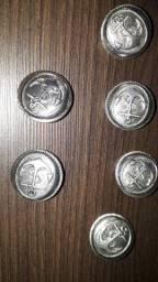 Lote 6 Botões Antigos - Âncora - Vintage