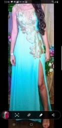 Vestido Festa Azul Tiffany