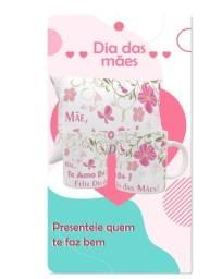 "Kit Almofada e Caneca ""Te Amo D+, Mãe!"""