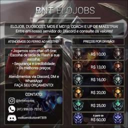 LOL Elo Job / Duo Boost / Up de Maestria / Coach / Md10 / Conta Unranked lvl 30