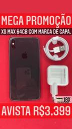 Oferta xsmax 64gb preto com marcas de uso