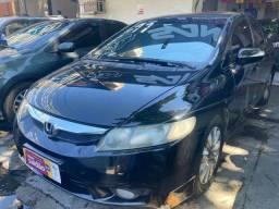 Honda Civic automático banco de couro com gnv