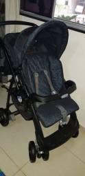 Carrinho Bebê Burigotto AT6 + Bebê conforto + Base Bebê Conforto
