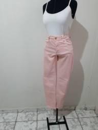 Calça Jeans Rosa Bebê - Tam 38