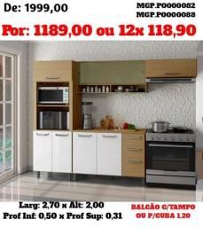Super Promoção Para sua Cozinha- Armario de Cozinha ou Cozinha Compactada Bela 4 Pçs